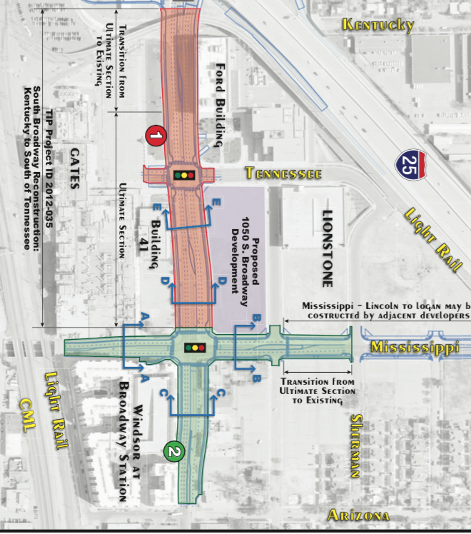 Widening Streets Near The Broadway And I-25 Transit