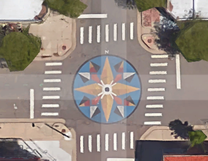 The mural at West 25th and Eliot. Image: Google Maps